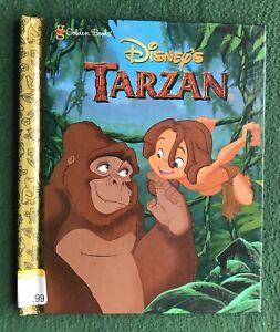 Disney's TARZAN Little Golden Book Walt Disney HC Edgar Rice Burrough 1st ed '99