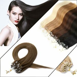 Pretty 1g Lustrous flowy soft EASY MICRO LOOP Remy HUMAN HAIR EXTENSIONS UK