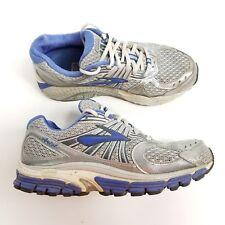 Brooks Womens Ariel 12 Running Shoes Size 7 B Gray Blue Silver Train 1201161B604