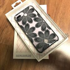 New OEM Vera Bradley Case Iphone 7 Plus 8 Plus. BOUQET Floral. Black and Clear
