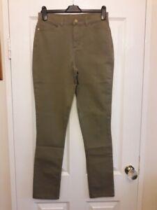 Ruth Langsford Cotton Twill Trouser Regular Khaki Size 10 Brand New