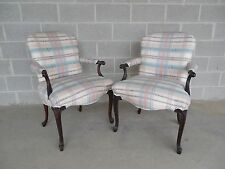 Pair French Louis Xv Style Accent Arm Chairs