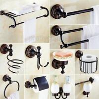 Black oil Rubbed Brass Bathroom Accessories Set Bath Hardware Towel Bar Pxz022