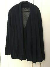 NEW LOOK maternity pregnancy dark blue knitted cardigan with lace insert UK 12