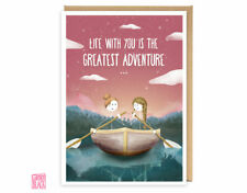 LGBT Anniversary Card, Birthday, Wife, Girlfriend, Lesbian, Mrs, Adventure, Love