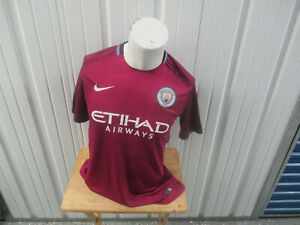 VINTAGE NIKE MANCHESTER CITY LADZ #99 SEWN PURPLE HOME LARGE JERSEY 2017/18 KIT