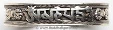 Armreif OM MANI PEME HUM - OM MANI PADME HUM - Breite 16 mm - Handarbeit Nepal