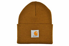 CARHARTT ACRYLIC WATCH BEANIE ONE SIZE BROWN WIP AUTHENTIC IMPORTED FROM USA