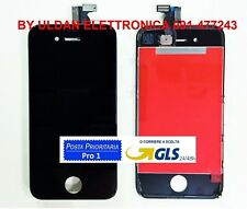 TOUCH SCREEN + LCD DISPLAY RETINA FRAME PER APPLE IPHONE 4 4G NERO VETRO SCHERMO