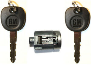 NEW Chevy GM OEM Door Lock Cylinder With 2 GM Logo Keys - MADE IN USA