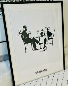 BANKSY - AUTHENTIC OUT OF TIME BLUR POSTER FRAMED WITH COA FROM STEVE LAZARIDES