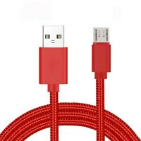3/6/10Ft Micro USB  Fast Charger Data Sync Cable Cord Samsung LG HTC Android Red