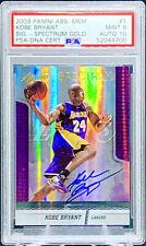 Kobe Bryant 2009-10 Absolute Memorabilia Spectrum Gold On Card Auto /99 PSA 9
