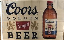 Coors Banquet Beer Flag 3x5 Bar Banner Man Cave Garage