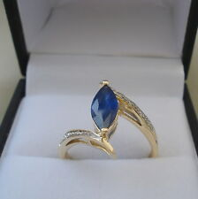 1.12ct Certified Burmese Sapphire & Diamond Gold Engagement Ring