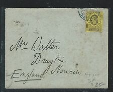 SOUTH AFRICA BOER WAR (PP2909B)  GB QV 3D JUBILEE USED IN 1900 TO ENGLAND