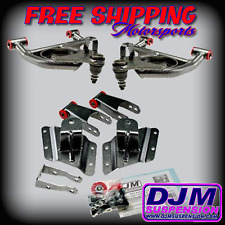 DJM Suspension Silverado 2/4 Lowering Drop Kit Control Arm Shackles Hangers