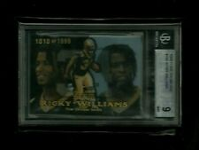 Ricky Williams Flair Showcase SHOWTIME REFRACTOR Rookie #/1999 BGS 9 MINT Saints