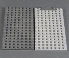 Lego 2x Placa Base 8x16 Botones Construcción Gris Claro Caballero Castillo Space