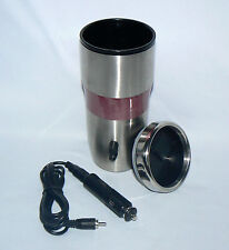 STAINLESS STEEL 16OZ PLUG IN CAR LIGHTER KEEP DRINK WARM ELECTRIC TRAVEL TUMBLER