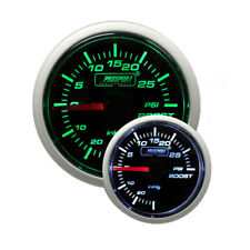 Prosport 52mm Mechanical Universal Boost / Turbo Gauge (Green / White)