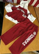 NWT new OU Oklahoma Sooners 2pc Set Toddler 4T Boys Fleece Hoodie Jacket Pants