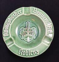 """Konigsbacher Brauerei Koblenz Germany 6"""" Vintage Ceramic Ashtray A28"""