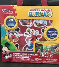 Mickey Mouse Clubhouse Kit Foldable Scene + 20 Repositionable Stickers New!