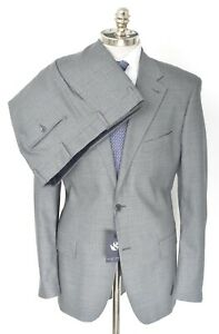 NWT Men's SARTORE Gray Herringbone Wool Suit Slim 46 L (EU 56) Drop 6 fits 44