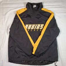 NHL Boston Bruins Hockey Embroidered Lightweight 1/4 Zip Pullover Jacket Size L