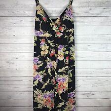Women's Lane Bryant Outlet Black Floral Maxi Dress Size 24W