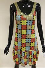 Cotton Blend V Neck Floral Sleeveless Dresses for Women