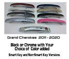 Black OR Chrome Door Handle Overlays 2011-2020 Jeep Grand Cherokee YOU PICK CLR