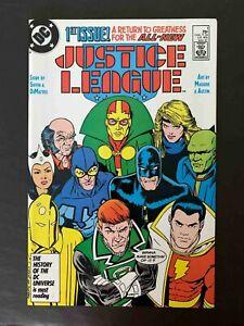 JUSTICE LEAGUE  AMERICA #1 DC COMICS 1987 NM+