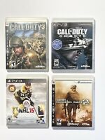 PLAYSTATION PS3 GAMES Lot of 4 Call Of Duty 3, Ghost, Modern Warfare 2 & NHL 15.