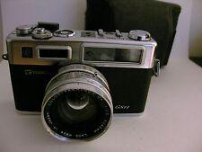 Yashica Rangefinder Electro 35 Rangefinder Camera + Works + Case Vintage