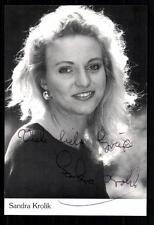Sandra Krolik Autogrammkarte Original Signiert ## BC 21890