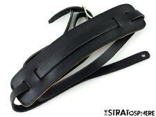 Used Fender Vintage Deluxe GUITAR STRAP Stratocaster Strat, Black Leather!