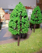 5 mittelgrüne Laubbäume, 140 mm hoch