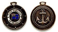 Medaglia Con Smalto Navi Lloyd Brasileiro Rio De Janeiro Metallo Argentato