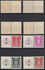 Saarland Dienstmarken 33 L,34 L,39 L,44 L ** mit Leerfeldern+ Drucknummern