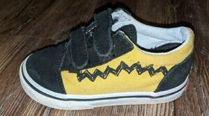 Vans Old Skool Charlie Brown Peanuts toddler boys yellow black sneakers size 7