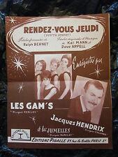 Partitura Hacer vous jueves Los De Gam Jacques Hendrix 1963