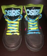 Women's OSIRIS NYC 83 Slim High Top Skate Shoes Green/Pink/Black Size 9 EUC