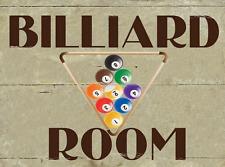 Billiard Room Metal Sign, Game Room, Den, Man Cave, Rack, Pool Ball