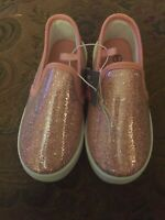 Swiggles Toddler Girls Pink Glitter Slip On Shoes Size 9 ~ New With Tags!