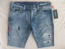 True Religion Ricky Cut off Shorts-Embroid Dragons-Ojai Escape-Size 40-NWT $189