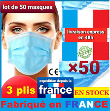 PROMOTION LOT 50 MASQUE PROTECTION NORME CE MADE IN FRANCE 🇫🇷 livraison rapide
