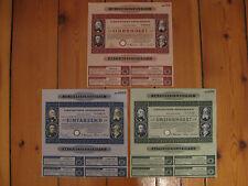 New listing I.G. FarbenIndustrie Rm 100 +200 +1000 Liqui-Anteilschein blau, grün, +rot je1x