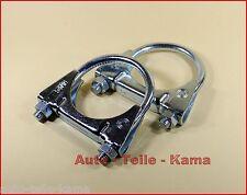 2 x Auspuffschelle für Opel, Vauxhall Abgasanlage , Montageschelle / M8 Ø 54 mm